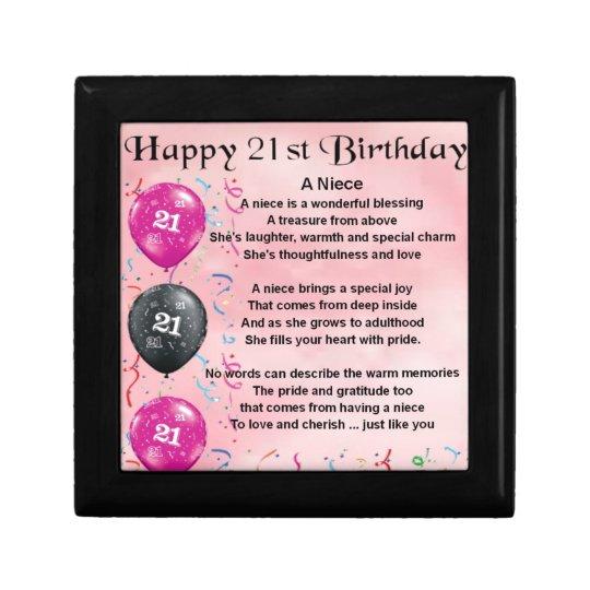 Niece Poem - 21st Birthday Gift Box
