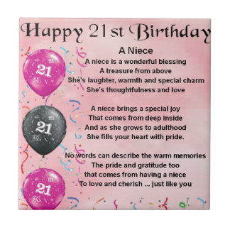 Niece Poem - 21st Birthday Tile