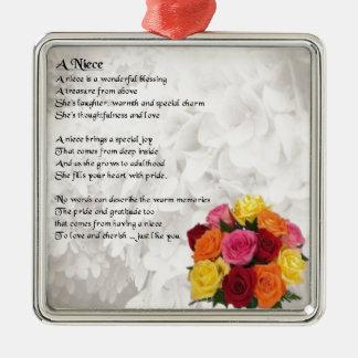 Niece Poem - Flowers Christmas Ornament