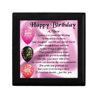 Niece Poem - Happy Birthday Gift Box