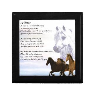 Niece Poem - Horses Gift Box