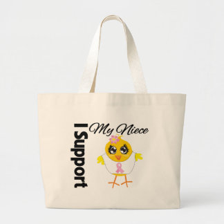 Niece Support Breast Cancer Canvas Bags