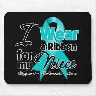 Niece - Teal Awareness Ribbon Mouse Pad