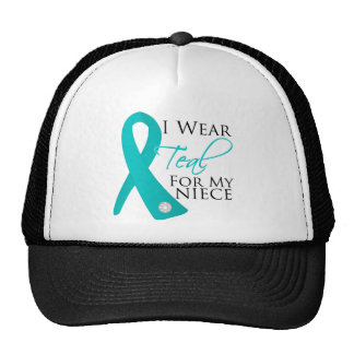 Niece - Teal Ribbon Ovarian Cancer Trucker Hat