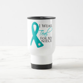 Niece - Teal Ribbon Ovarian Cancer Mugs