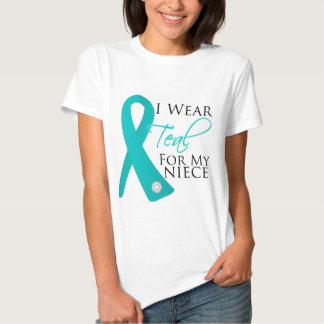 Niece - Teal Ribbon Ovarian Cancer Shirts