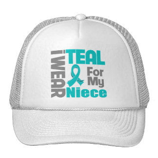 Niece - Teal Ribbon Ovarian Cancer Support Cap