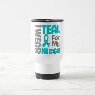Niece - Teal Ribbon Ovarian Cancer Support Mug