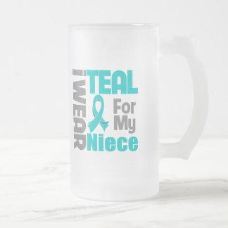 Niece - Teal Ribbon Ovarian Cancer Support Coffee Mug