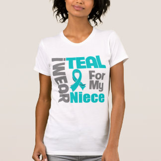 Niece - Teal Ribbon Ovarian Cancer Support T-shirts