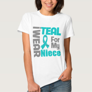 Niece - Teal Ribbon Ovarian Cancer Support Tees