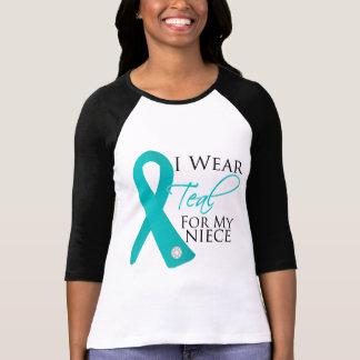 Niece - Teal Ribbon Ovarian Cancer Tee Shirt