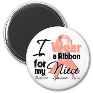 Niece - Uterine Cancer Ribbon Refrigerator Magnets