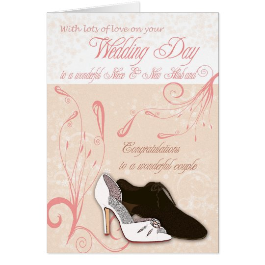 Niece Wedding Day Card with love