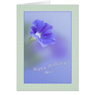 Niece's Birthday Card with Petunia