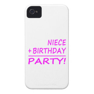 Nieces Birthdays Niece + Birthday Party Case-Mate iPhone 4 Case