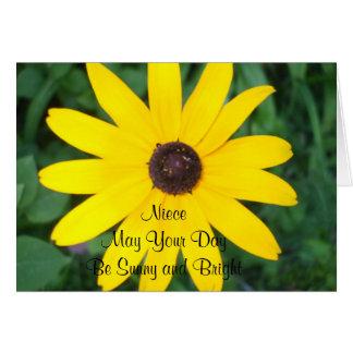 Niece's Sunny Birthday Black Eyed Susan Greeting Card
