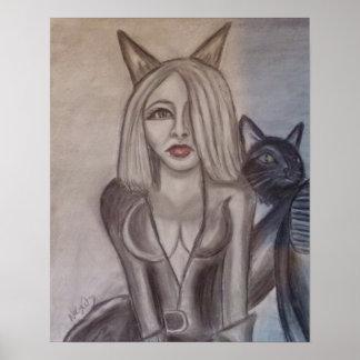 Niecy Catz - Woman Poster