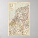 Niederlande - Netherlands Map Poster