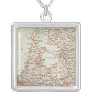 Niederlande - Netherlands Map Silver Plated Necklace