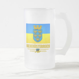 Niederosterreich (Lower Austria) Frosted Glass Beer Mug