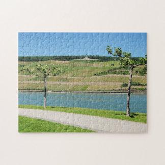 Niederwalddenkmal with coarse home on the Rhine Jigsaw Puzzle