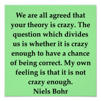 niels bohr quote print