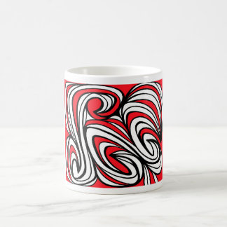 Niemants Abstract Expression Red White Black Basic White Mug