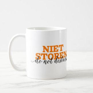 Niet Storen / Do Not Disturb Dutch Word Vocabulary Coffee Mug