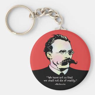 Nietzsche - Art v. Reality Basic Round Button Key Ring