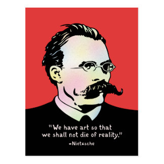 Nietzsche - Art v. Reality Postcard