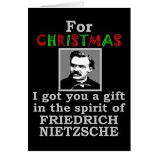 Nietzsche Humor Christmas Card