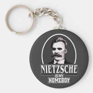 Nietzsche Is My Homeboy Basic Round Button Key Ring