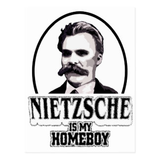 Nietzsche Is My Homeboy Postcard