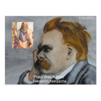 Nietzsche Plato Bore Quote Gifts Tees Mugs Etc Postcard