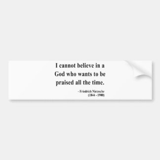 Nietzsche Quote 2a Bumper Sticker