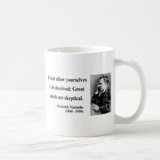 Nietzsche Quote 9b Basic White Mug