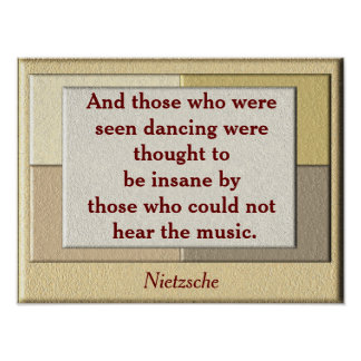 Nietzsche quote - art poster