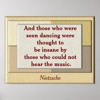 Nietzsche quote - art poster