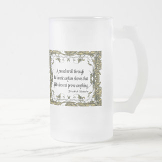 Nietzsche Quote Casual Stroll Through the Lunatic Mug