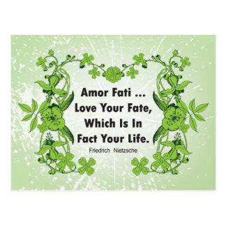 Nietzsche Quote Love Your Fate ... Postcard