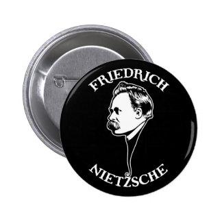 Nietzsche - sv 6 cm round badge