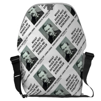 Nietzsche What Does Not Destroy Me Makes Stronger Commuter Bag