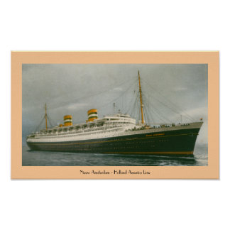Nieuw Amsterdam - Holland America Line Poster