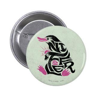 Niffler Typography Graphic 6 Cm Round Badge
