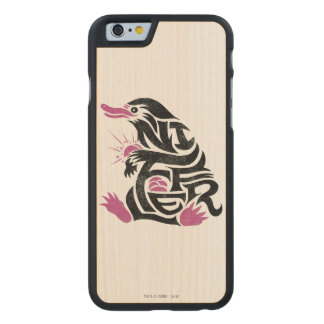 Niffler Typography Graphic Carved Maple iPhone 6 Case