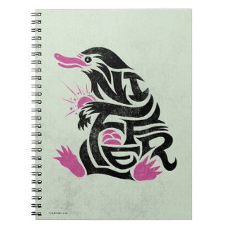Niffler Typography Graphic Spiral Notebook