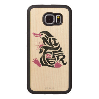 Niffler Typography Graphic Wood Phone Case