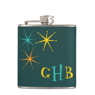 Nifty fifties - atoms and stars hip flask