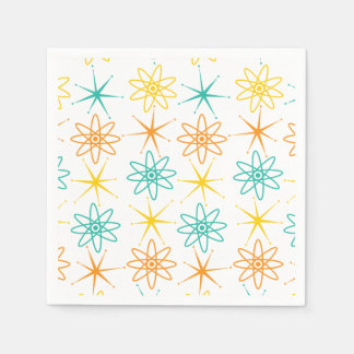 Nifty fifties - atoms and stars napkin disposable serviettes